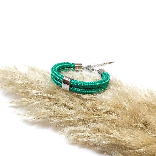 Dena kötél karkötő - smaragdzöld