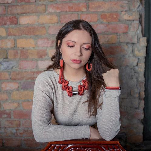 Mira nyaklánc - terrakotta/vörös