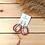Thumbnail: Dena kötél fülbevaló - vörös/bézs