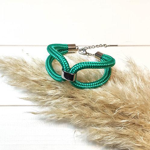 Elara kötél karkötő - smaragdzöld