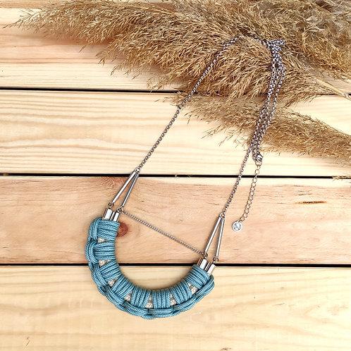 Flow hosszú nyaklánc - menta kék