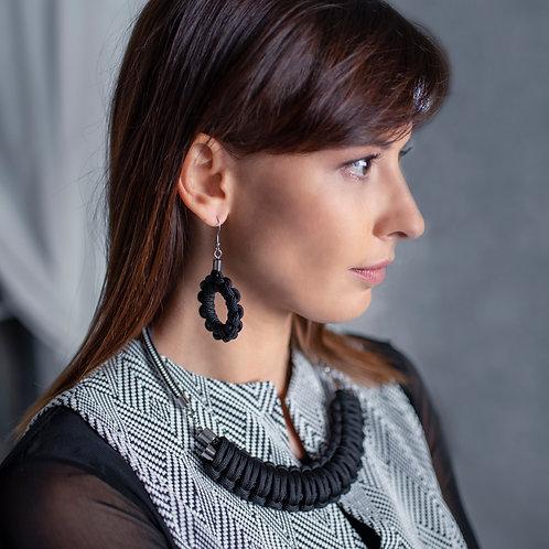 Kaya nyaklánc - fekete