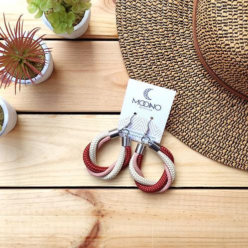 Antelope kötél fülbevaló - terrakotta