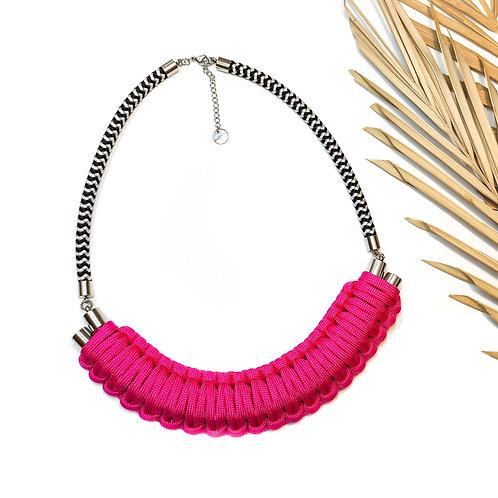 Kaya nyaklánc - élénk pink