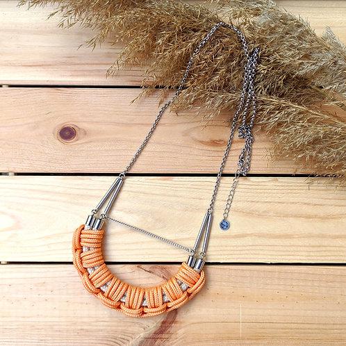 Flow hosszú kötél nyaklánc - világos narancs