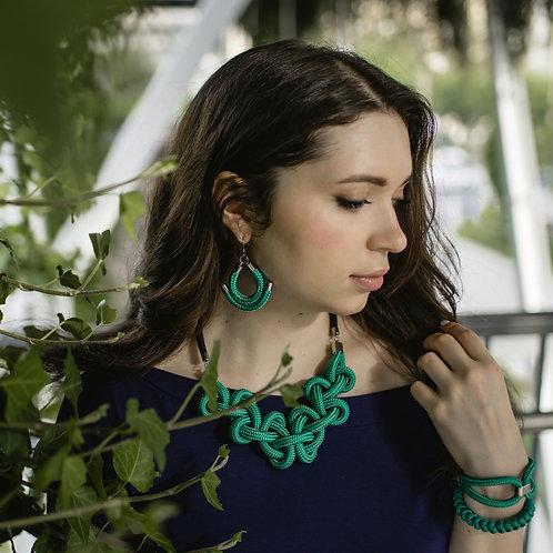 Minea nyaklánc - smaragdzöld