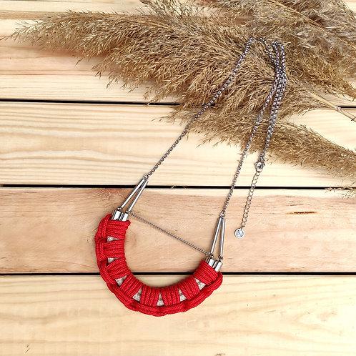 Flow hosszú kötél nyaklánc - piros