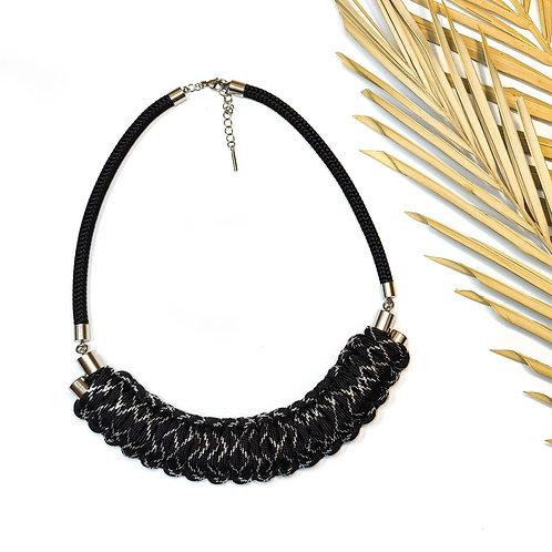 Kaya nyaklánc - fekete/ezüst