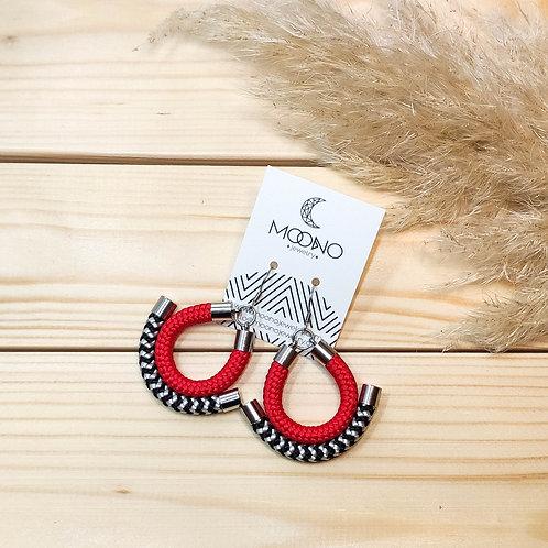 Shanna fülbevaló - piros