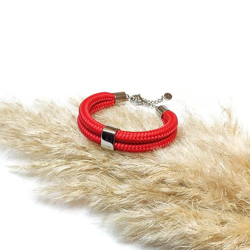 Dena kötél karkötő - piros