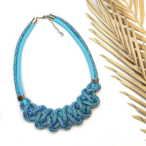 Ayla nyaklánc - kék mintás