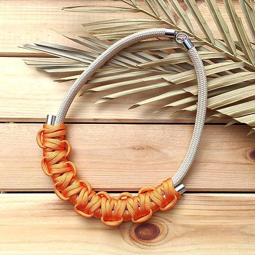 Hania kötél nyaklánc - élénk narancs