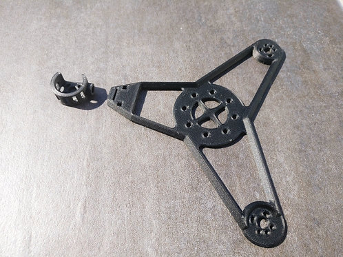 "3"" Whirlygig Premium CFF Frame and Motor Mount Set"