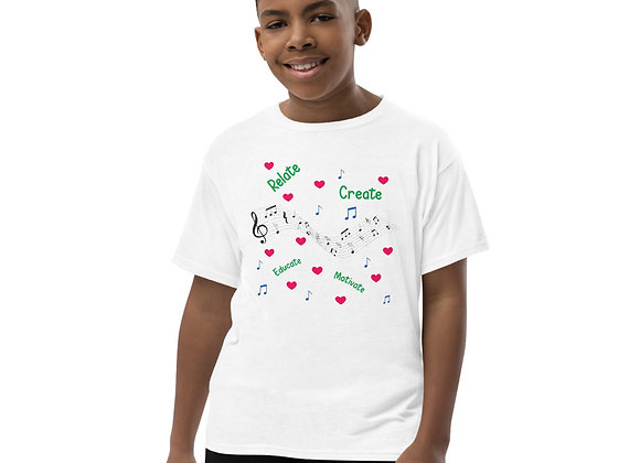 Youth Short Sleeve Relate Create Educate Motivate T-Shirt
