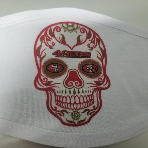 49ers HNS Sugar Skull adjustable mask