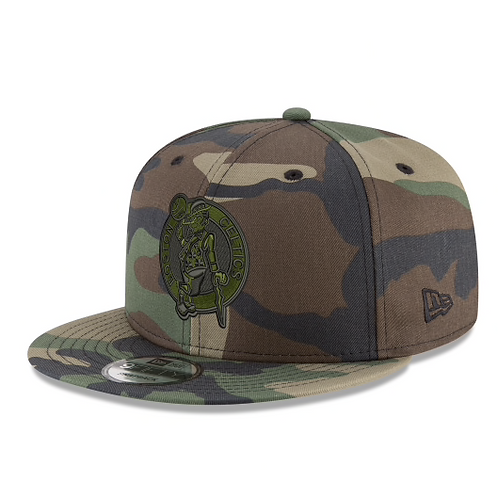 BOSTON CELTICS WOODLAND CAMO SNAPBACK