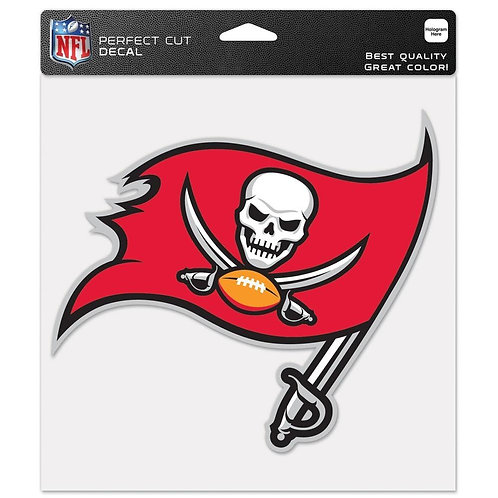 Tampa Bay Buccaneers 8x8 perfect cut decal