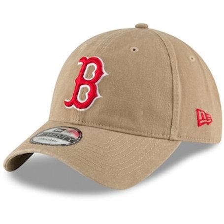 Men's Boston Red Sox New Era Khaki Core Classic Secondary 9TWENTY Adjustable Hat