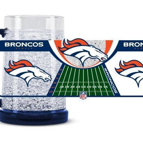 Denver Broncos Crystal Freezer Mug