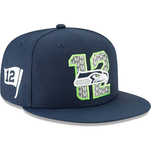 Seattle Seahawks New Era 2019 NFL Draft On-Stage Official 9FIFTY Adjustable Snap