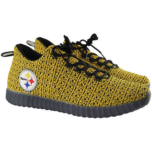 Pittsburgh Steelers Knit Light Up Sneakers