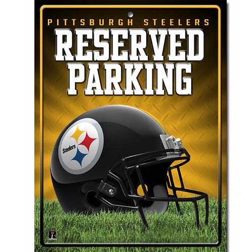 Pittsburgh Steelers Sign Metal Parking