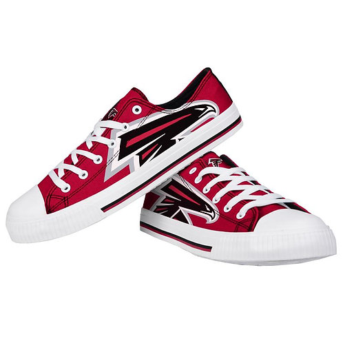 Atlanta Falcons Low Top Canvas Shoes