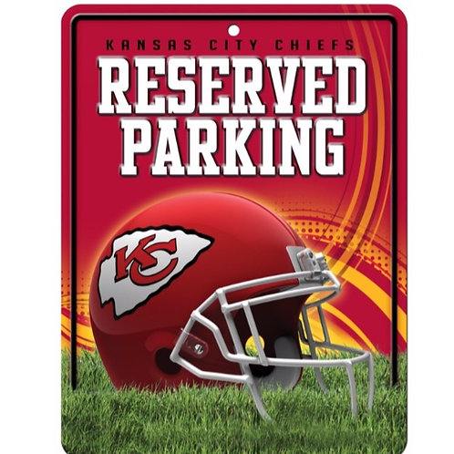 Kansas City Chiefs Sign Metal Parking