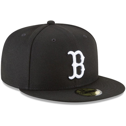 Boston Red Sox Black Basic 59FIFTY Fitted Hat
