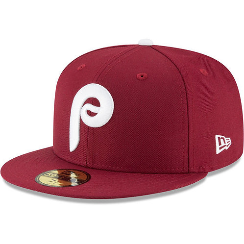Philadelphia Phillies Maroon Cooperstown 5950 NL PATCH ON SIDE