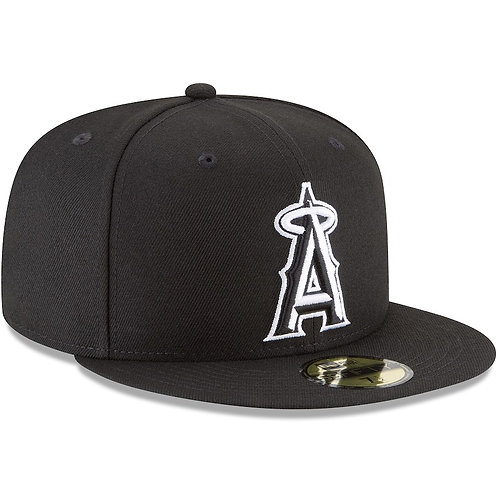 Los Angeles Angels New Era Basic 59FIFTY Fitted Hat – Black