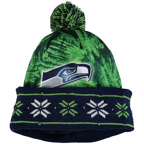 Seattle Seahawks NFL Big Logo Light Up Printed Beanie