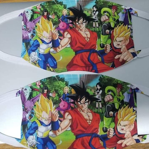 Dragon Ball Z face mask adjustable