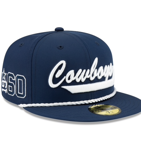 DALLAS COWBOYS OFFICIAL NFL SIDELINE HOME 59FIFTY FITTED