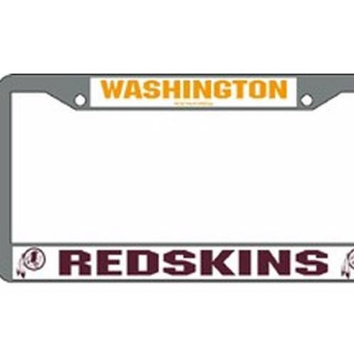 Washington Redskins License Plate Frame Chrome