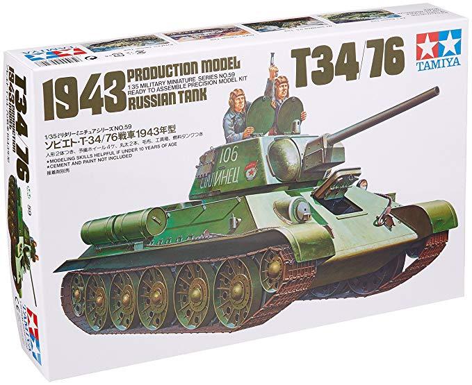 Tamiya T34 76 Tank