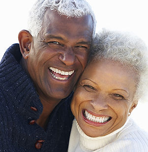 Happy couple, dentist