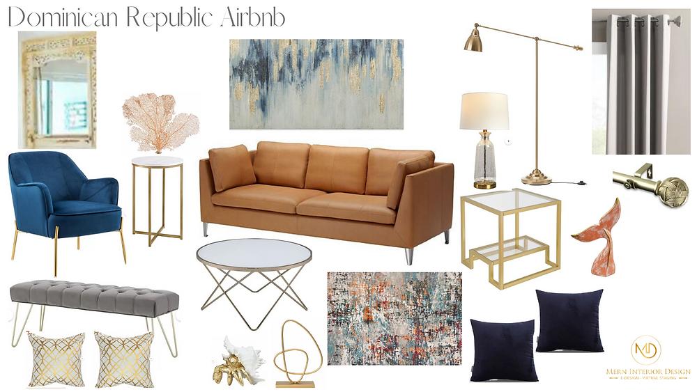 Oceanfront Airbnb Living Room Interior Design - Mern Interior Design