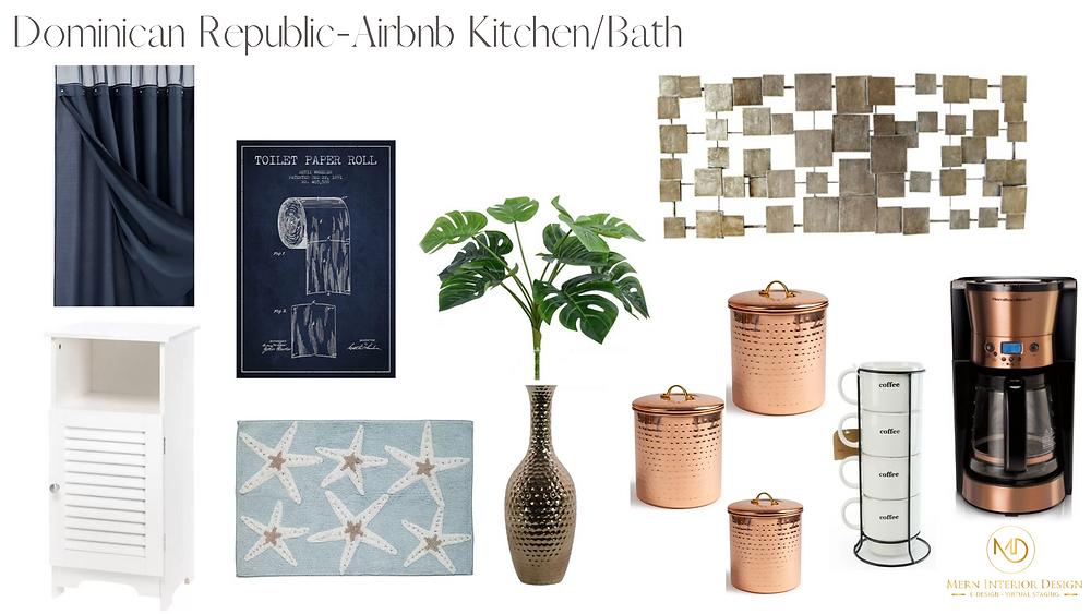 Airbnb kitchen and bath redecorating - Mern Interior Design