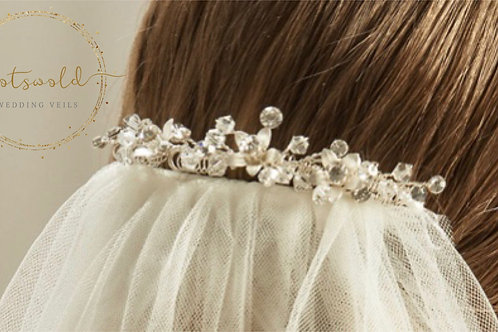 Beautiful Wedding Veil Clip - Sophie, pearl & crystal Veil Clip, Veil Accessorie