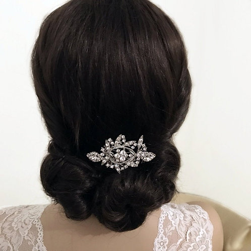 Crystal Shimmer Bridal Hair Comb, Available in Silver, Bridal Accessories, Brida