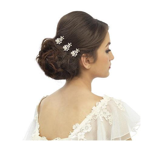 Trudy Luxe Hair Pin, Silver, Bridal Accessories, Bridal Hair, Bridesmaid Hair, C
