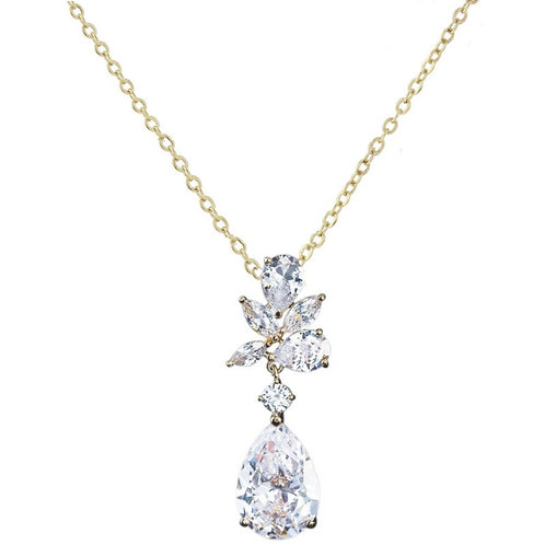 Exquisite Starlet Necklace, Available in Silver or Gold, Bridal Accessories, Bri