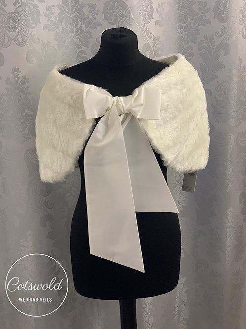 Stunning Faux Fur Cape, Wedding Bolero, Bridal Cover Up, Brides, Bridesmaid, Fau