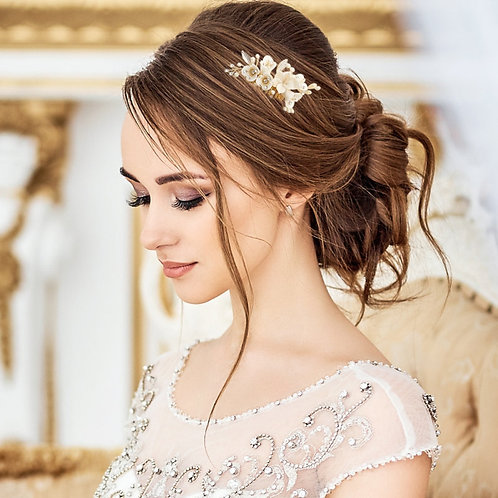 Vintage Charm Hair Comb, Gold or Silver, Bridal Accessories, Bridal Hair, Brides
