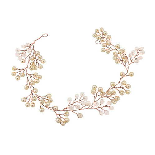 Mini Pearl Embellished Hairvine, Wedding Hair Accessories, Silver or Rose Gold,