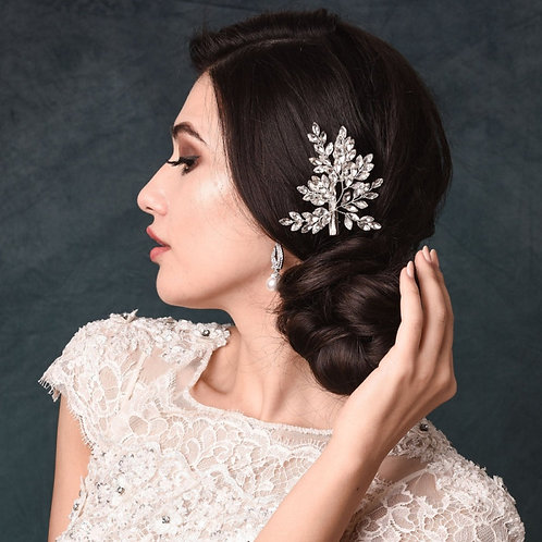 Crystal Spray Hair Clip,  Bridal Hair, Bridal Accessories, Bridesmaid & Bride Ha