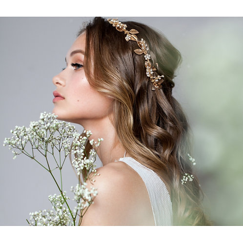 Dazzling Luxe Floral Hair Vine,  Silver or Gold