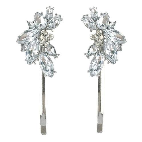 Crystal Glam Hair Clip,  Bridal Hair, Bridal Accessories, Bridesmaid & Bride Hai