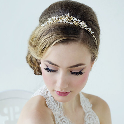 Stunning Crystal & Pearl Luxe Bridal Tiara, Wedding Tiara, Bridal Accessories, 1